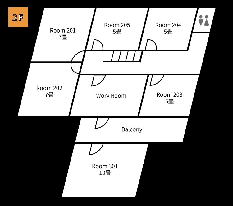 西新間取り図2F